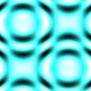 Baby Blue and Black and White circular plasma waves seamless tileable