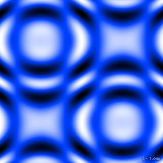 Blue and Black and White circular plasma waves seamless tileable