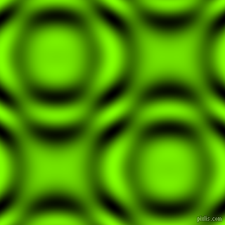 , Chartreuse and Black and White circular plasma waves seamless tileable