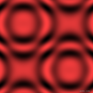 Coral Red and Black and White circular plasma waves seamless tileable