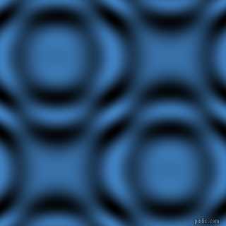 , Curious Blue and Black and White circular plasma waves seamless tileable