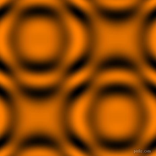 Dark Orange and Black and White circular plasma waves seamless tileable