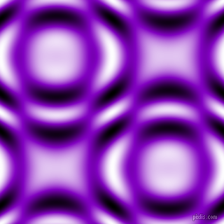 Dark Violet and Black and White circular plasma waves seamless tileable