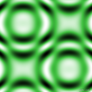 Lime Green and Black and White circular plasma waves seamless tileable