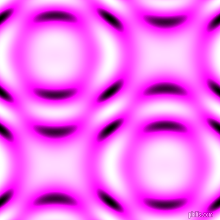 , Magenta and Black and White circular plasma waves seamless tileable