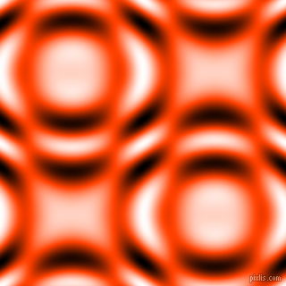 Orange Red and Black and White circular plasma waves seamless tileable