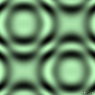 Pale Green and Black and White circular plasma waves seamless tileable