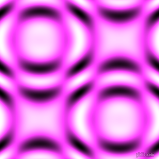 Pink Flamingo and Black and White circular plasma waves seamless tileable