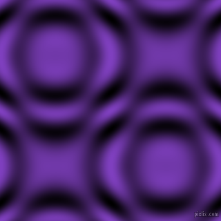 Purple Heart and Black and White circular plasma waves seamless tileable