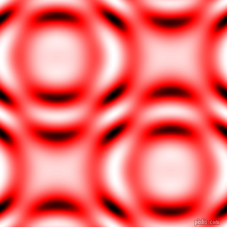 Red and Black and White circular plasma waves seamless tileable