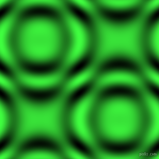 Screamin' Green and Black and White circular plasma waves seamless tileable
