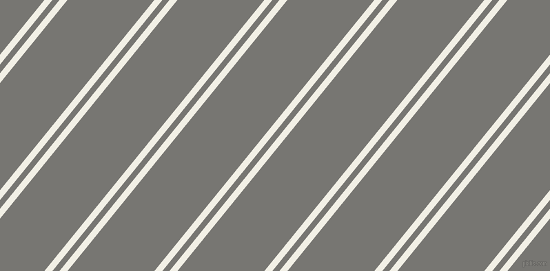 51 degree angles dual stripe line, 9 pixel line width, 8 and 98 pixels line spacing, Alabaster and Dove Grey dual two line striped seamless tileable
