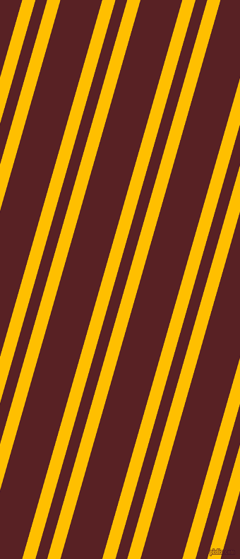 74 degree angle dual striped lines, 18 pixel lines width, 16 and 57 pixel line spacing, Amber and Burnt Crimson dual two line striped seamless tileable