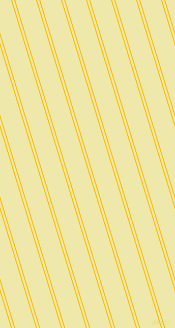 107 degree angles dual stripes lines, 2 pixel lines width, 4 and 39 pixels line spacing, Amber and Pale Goldenrod dual two line striped seamless tileable