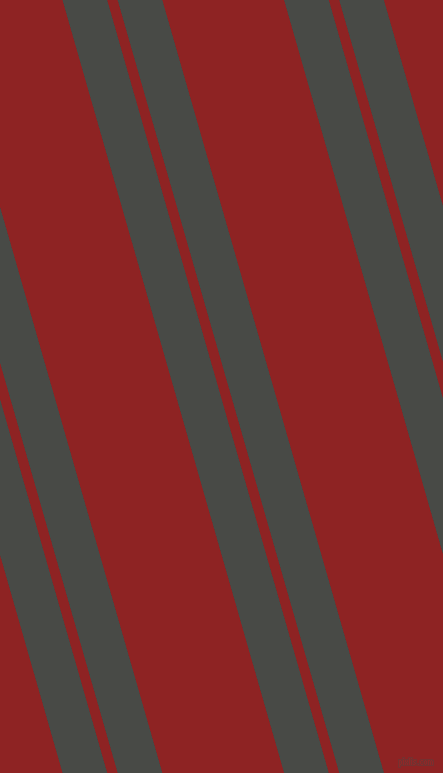 106 degree angles dual stripe lines, 43 pixel lines width, 10 and 117 pixels line spacing, Armadillo and Mandarian Orange dual two line striped seamless tileable