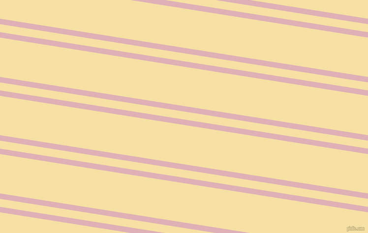 171 degree angle dual stripes lines, 11 pixel lines width, 16 and 79 pixel line spacing, Blossom and Buttermilk dual two line striped seamless tileable