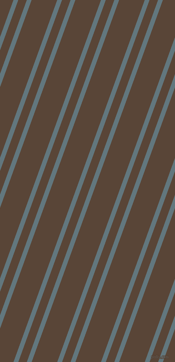 70 degree angles dual stripes line, 9 pixel line width, 16 and 48 pixels line spacing, Blue Bayoux and Brown Derby dual two line striped seamless tileable