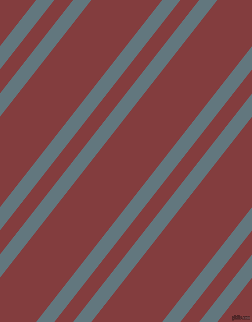 52 degree angles dual stripe line, 29 pixel line width, 30 and 113 pixels line spacing, Blue Bayoux and Stiletto dual two line striped seamless tileable