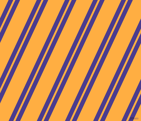 65 degree angles dual stripes lines, 18 pixel lines width, 8 and 64 pixels line spacing, Blue Gem and Yellow Orange dual two line striped seamless tileable