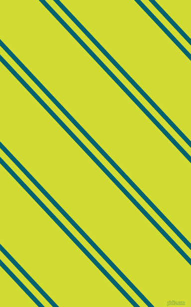 133 degree angle dual stripes lines, 9 pixel lines width, 12 and 110 pixel line spacing, Blue Lagoon and Bitter Lemon dual two line striped seamless tileable
