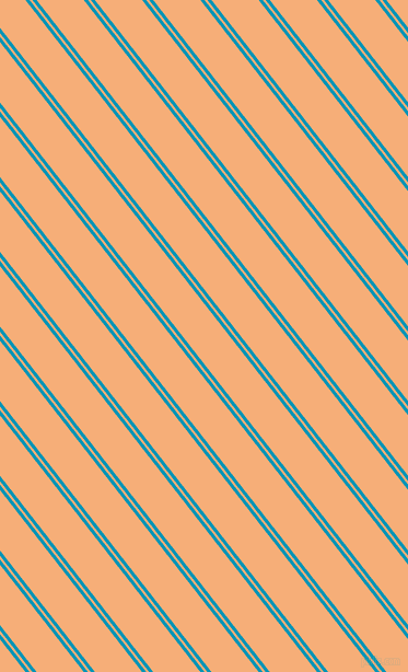 128 degree angles dual stripes line, 3 pixel line width, 2 and 34 pixels line spacing, Bondi Blue and Tacao dual two line striped seamless tileable
