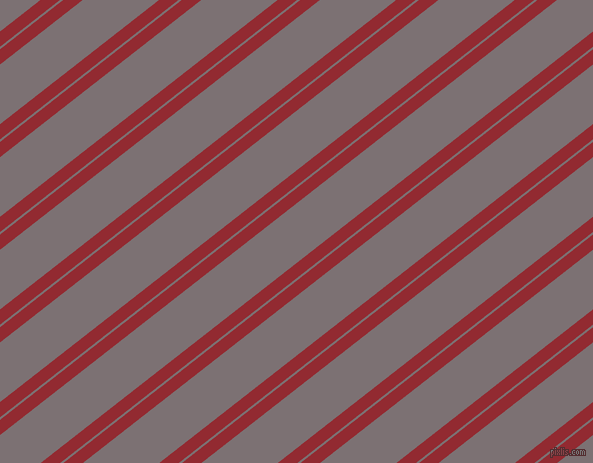 38 degree angle dual stripe line, 12 pixel line width, 2 and 47 pixel line spacing, Bright Red and Empress dual two line striped seamless tileable