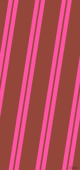 81 degree angle dual stripe lines, 16 pixel lines width, 6 and 64 pixel line spacing, Brilliant Rose and Mojo dual two line striped seamless tileable