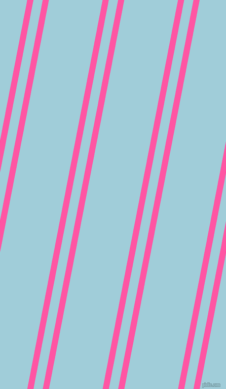 79 degree angle dual striped line, 12 pixel line width, 18 and 104 pixel line spacing, Brilliant Rose and Regent St Blue dual two line striped seamless tileable