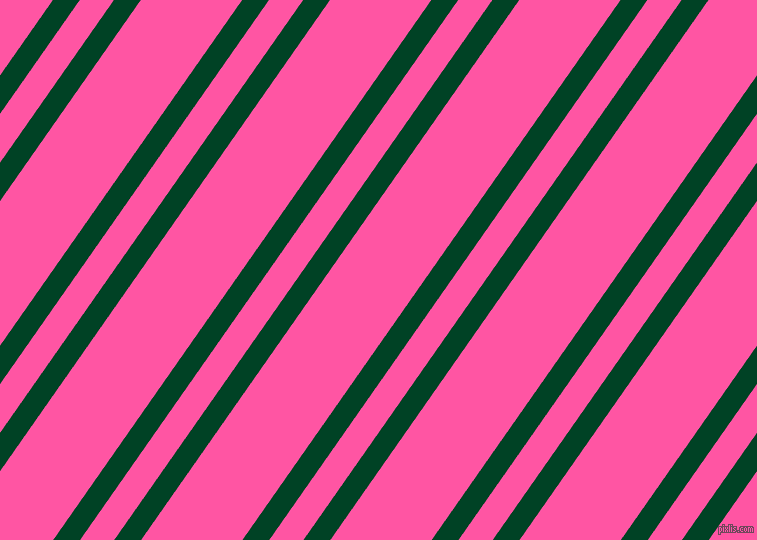 55 degree angles dual stripe lines, 22 pixel lines width, 28 and 83 pixels line spacing, British Racing Green and Brilliant Rose dual two line striped seamless tileable