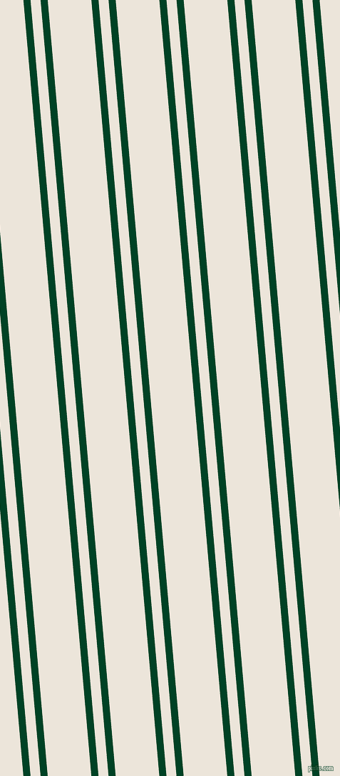 95 degree angle dual striped lines, 10 pixel lines width, 14 and 61 pixel line spacing, British Racing Green and Soapstone dual two line striped seamless tileable