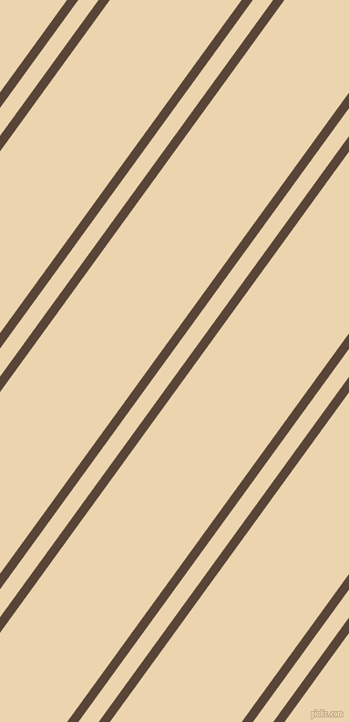 54 degree angles dual stripe lines, 10 pixel lines width, 18 and 117 pixels line spacing, Brown Derby and Givry dual two line striped seamless tileable