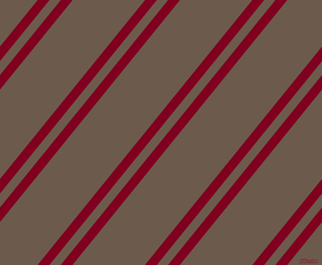51 degree angles dual stripe lines, 19 pixel lines width, 18 and 116 pixels line spacing, Burgundy and Domino dual two line striped seamless tileable