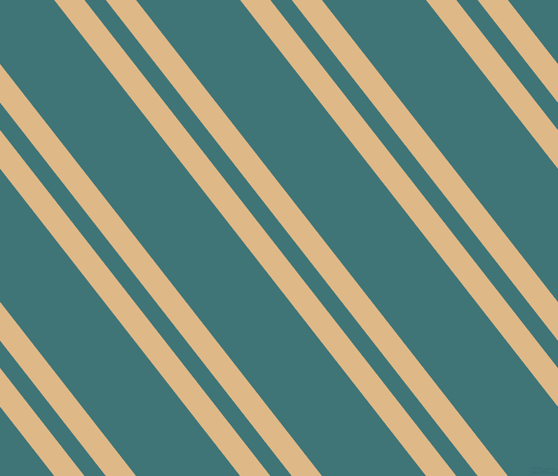 128 degree angle dual stripes lines, 34 pixel lines width, 24 and 117 pixel line spacing, Burly Wood and Ming dual two line striped seamless tileable