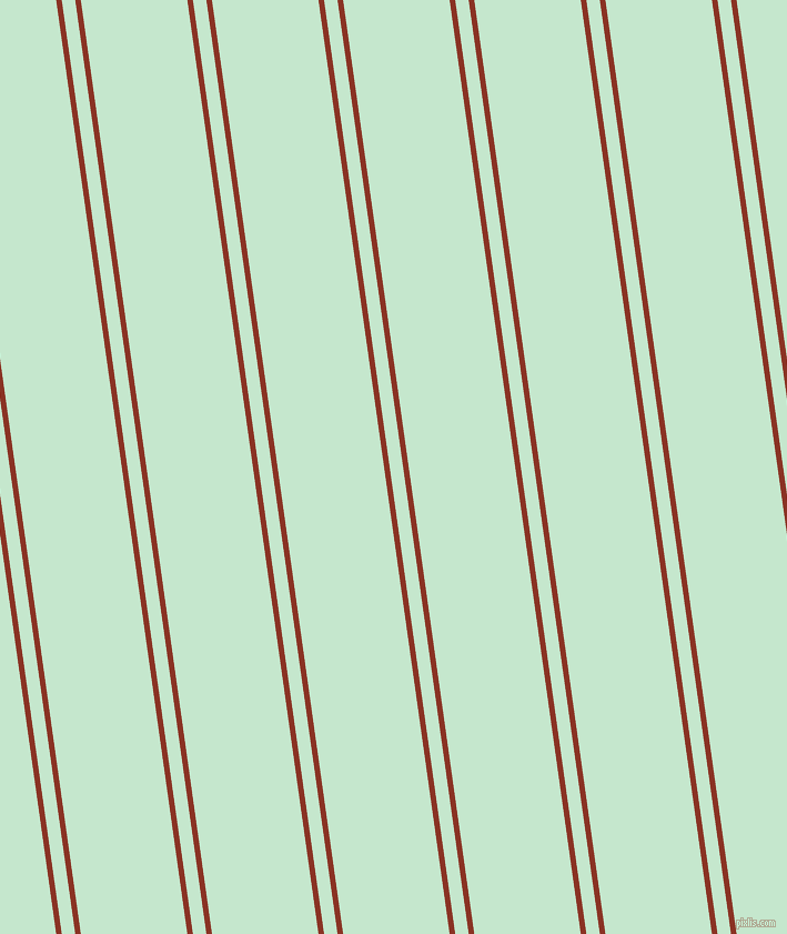 98 degree angles dual striped lines, 5 pixel lines width, 12 and 95 pixels line spacing, Burnt Umber and Granny Apple dual two line striped seamless tileable