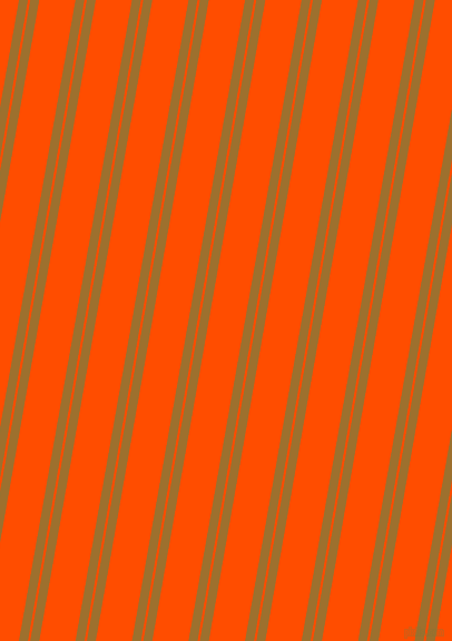 80 degree angles dual stripes line, 8 pixel line width, 2 and 32 pixels line spacing, Buttered Rum and Vermilion dual two line striped seamless tileable