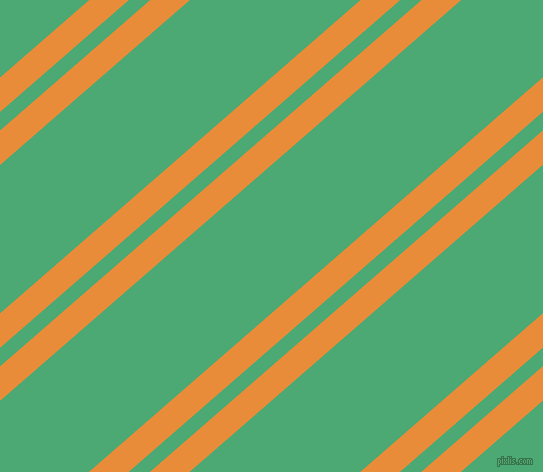41 degree angle dual stripes lines, 26 pixel lines width, 14 and 112 pixel line spacing, California and Ocean Green dual two line striped seamless tileable