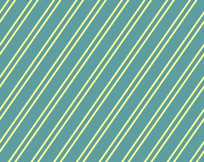 55 degree angle dual stripe line, 6 pixel line width, 12 and 39 pixel line spacing, Canary and Cadet Blue dual two line striped seamless tileable