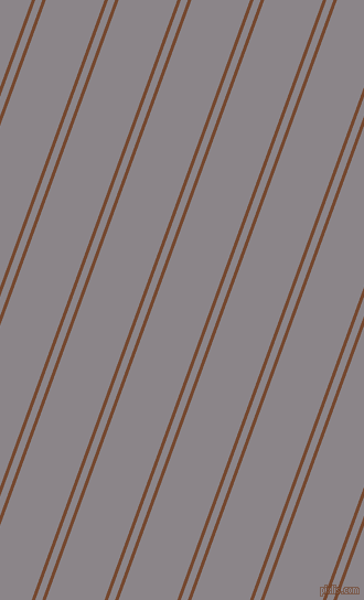 70 degree angle dual striped line, 3 pixel line width, 6 and 50 pixel line spacing, Cape Palliser and Taupe Grey dual two line striped seamless tileable