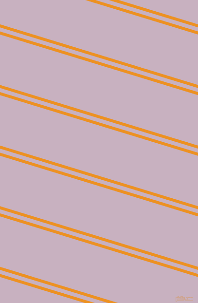 163 degree angles dual stripes lines, 6 pixel lines width, 8 and 99 pixels line spacing, Carrot Orange and Maverick dual two line striped seamless tileable