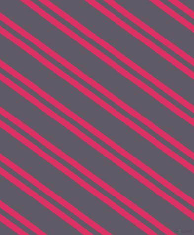 144 degree angle dual stripes line, 12 pixel line width, 10 and 43 pixel line spacing, Cerise and Mobster dual two line striped seamless tileable