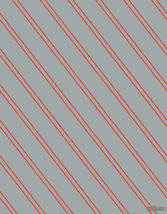 128 degree angle dual striped lines, 2 pixel lines width, 6 and 34 pixel line spacing, Cinnabar and Hit Grey dual two line striped seamless tileable