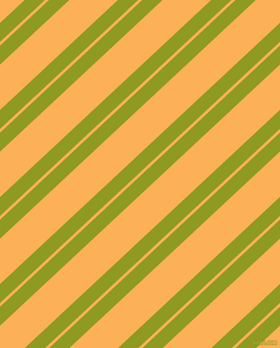 43 degree angle dual striped lines, 20 pixel lines width, 4 and 48 pixel line spacing, Citron and Texas Rose dual two line striped seamless tileable