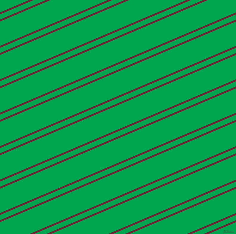 23 degree angle dual stripes lines, 6 pixel lines width, 16 and 75 pixel line spacing, Claret and Pigment Green dual two line striped seamless tileable