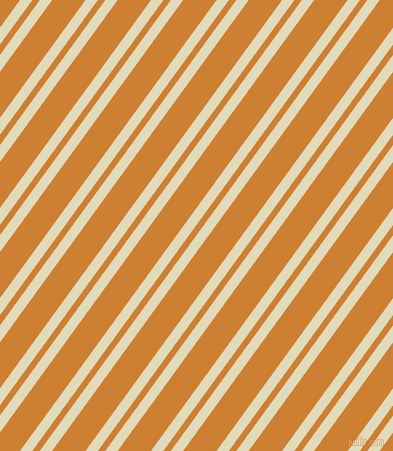 54 degree angles dual striped line, 10 pixel line width, 6 and 27 pixels line spacing, Coconut Cream and Bronze dual two line striped seamless tileable