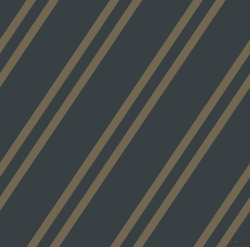 56 degree angle dual stripes line, 16 pixel line width, 22 and 85 pixel line spacing, Coffee and Charade dual two line striped seamless tileable
