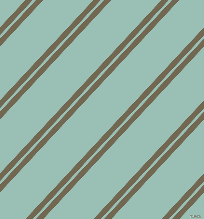 47 degree angles dual striped line, 18 pixel line width, 8 and 124 pixels line spacing, Coffee and Shadow Green dual two line striped seamless tileable