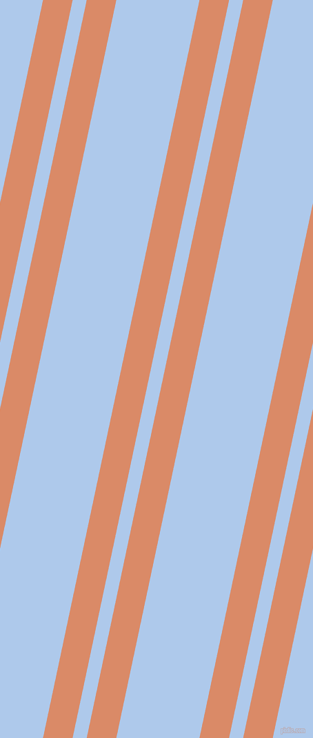 78 degree angle dual stripe lines, 42 pixel lines width, 20 and 118 pixel line spacing, Copper and Tropical Blue dual two line striped seamless tileable