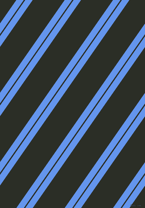 55 degree angle dual striped line, 20 pixel line width, 4 and 86 pixel line spacing, Cornflower Blue and Marshland dual two line striped seamless tileable