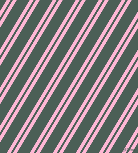 59 degree angles dual stripe line, 11 pixel line width, 6 and 36 pixels line spacing, Cotton Candy and Viridian Green dual two line striped seamless tileable