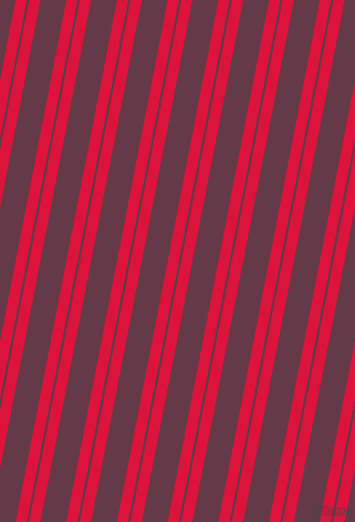 79 degree angle dual stripes lines, 10 pixel lines width, 2 and 23 pixel line spacing, Crimson and Tawny Port dual two line striped seamless tileable